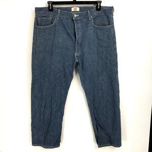 Levis Medium Wash 501 Straight Leg Jeans